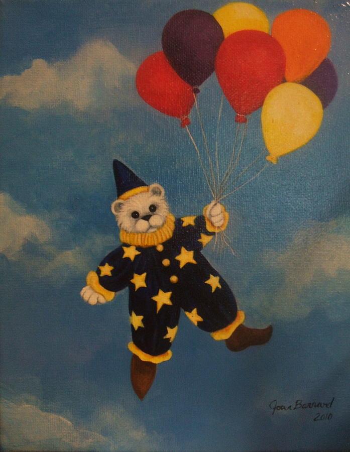 Balloons Painting - Balloons by Joan Barnard
