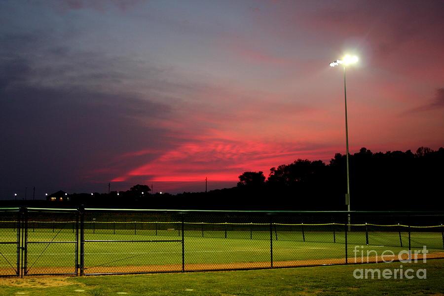 Sky Photograph - Ballpark Beauty by Lynn Reid