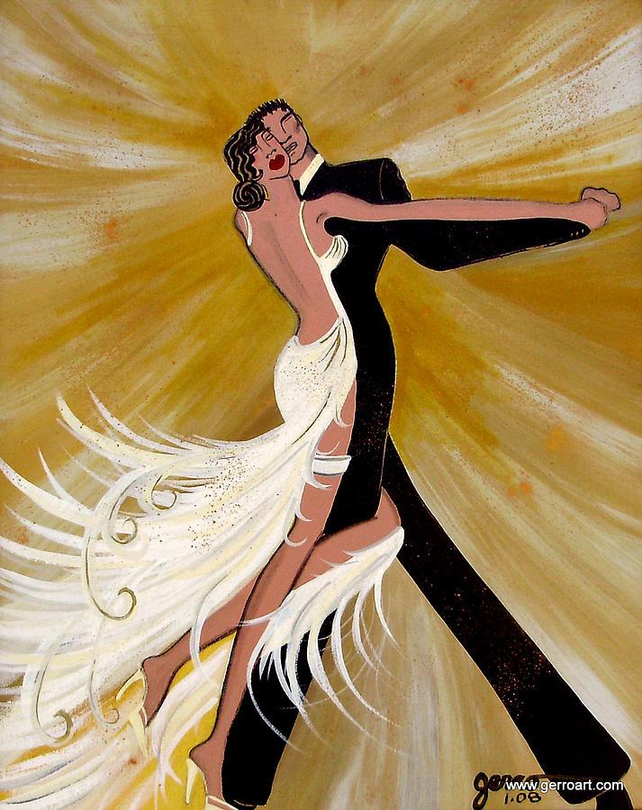 Ballroom Dancers Painting - Ballroom Dance by Helen Gerro