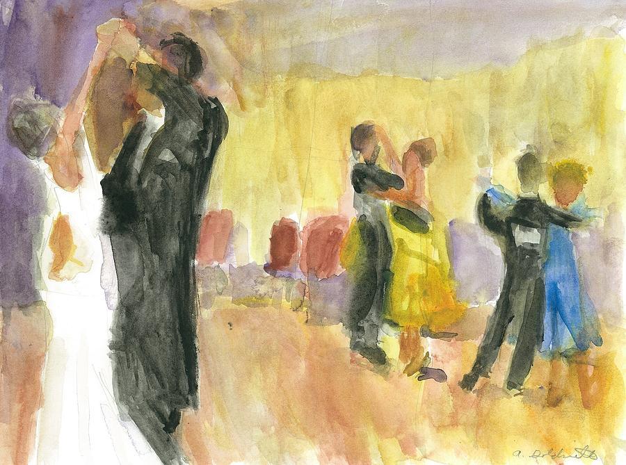 Ballroom Dancers by Andrea Goldsmith