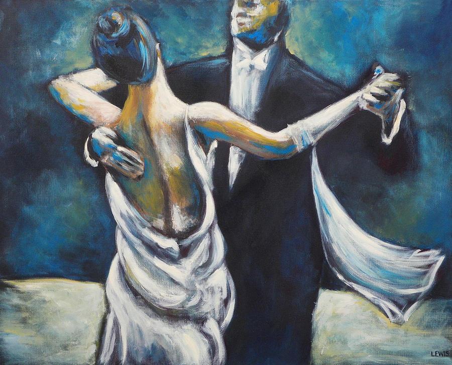 Dance Painting - Ballroom Dancers by Ellen Lewis