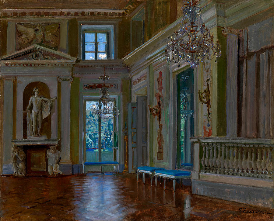 Zhukovsky Painting - Ballroom Of The Lazienki Palace by Stanislav Zhukovsky