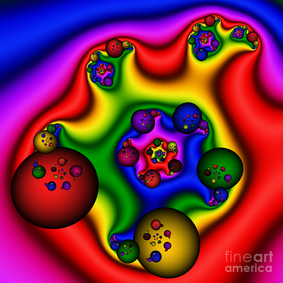 Abstract Digital Art - Balls In My Ear 206 by Rolf Bertram