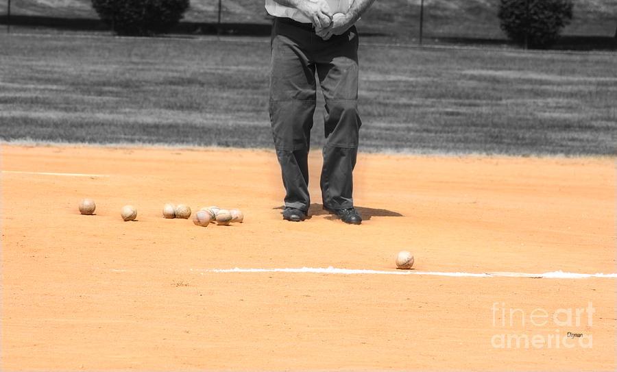 Baseball Photograph - Balls by Steven Digman