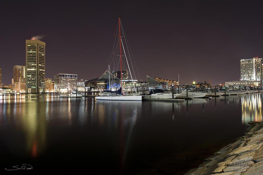 Baltimore Inner Harbor Photograph - Baltimore Boat Yard by Shane Psaltis