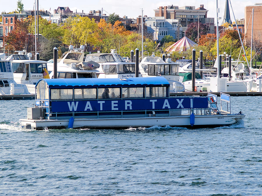 Baltimore Photograph - Baltimore Harbor Water Taxi by Henry Stamm