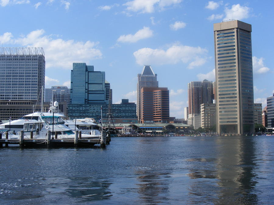 Baltimore Photograph - Baltimore Inner Harbor by James and Vickie Rankin