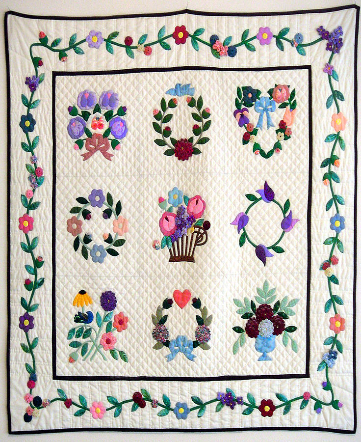 Baltimore Nine Square Tapestry - Textile by Dorothea Kay