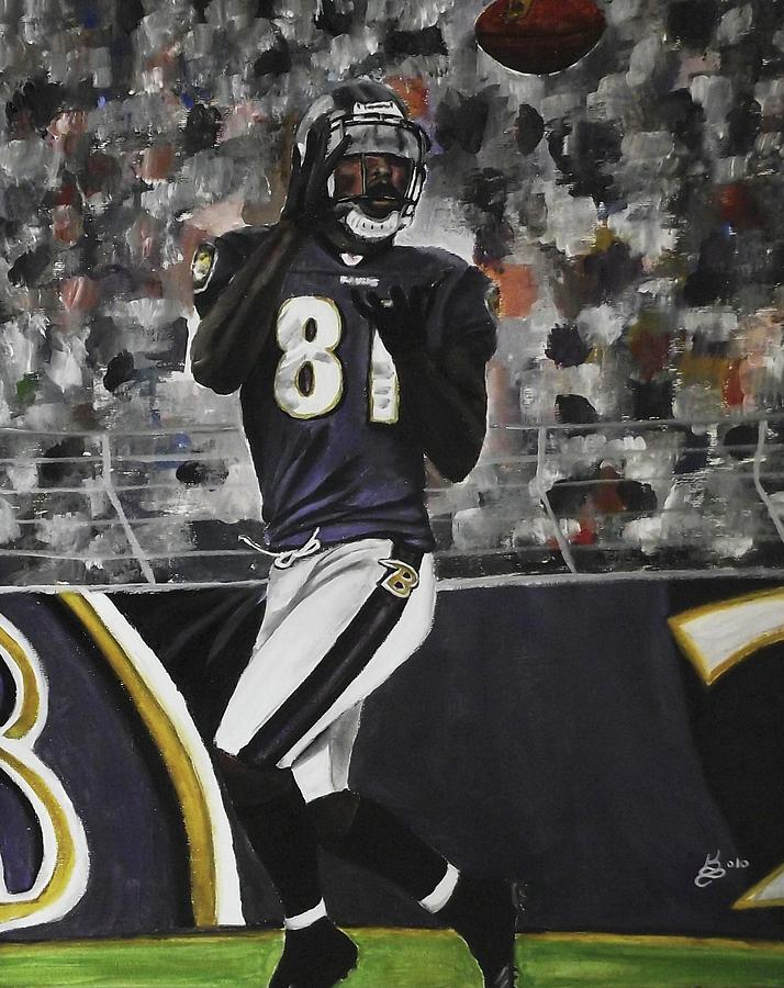 Baltimore Ravens Anquan Boldin Painting by Kim Selig  for sale