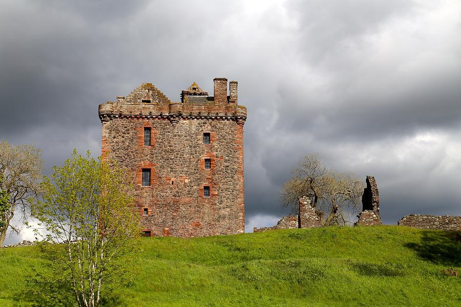 Balvaird Castle Photograph - Balvaird Castle Ruins Scotland by Caroline Reyes-Loughrey