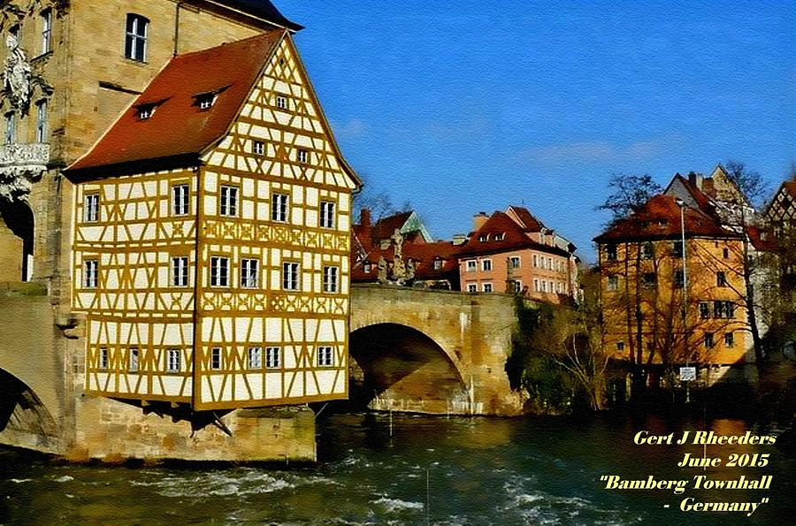 Announcement Painting - Bamberg Townhall - Germany H A by Gert J Rheeders