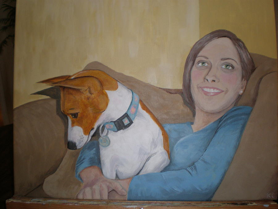 Portrait Painting - Bambi And Eshe by Kathy Castro
