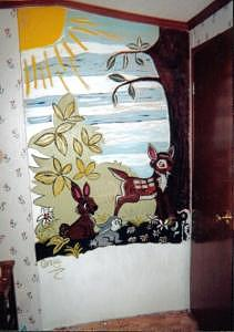 Bambi Mural Painting by Carla Vigneau