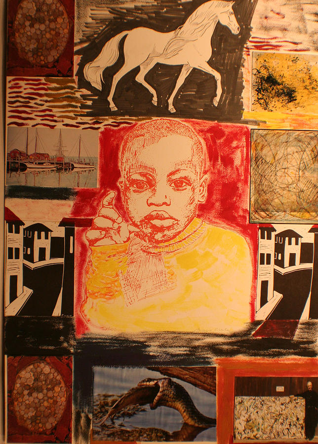 Bambino in Harlem Painting by Biagio Civale