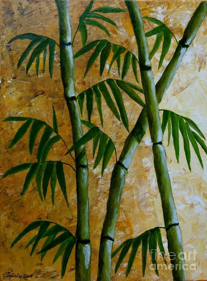 Bamboo Painting - Bamboo by Agusta Gudrun  Olafsdottir