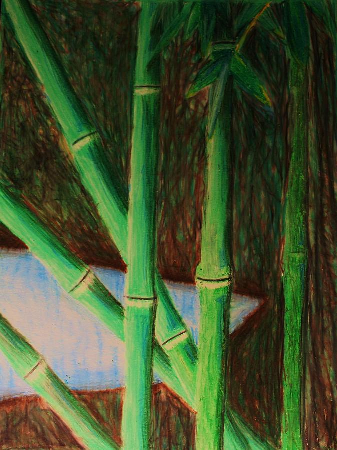 Bamboo Drawing - Bamboo Forest by Bruce Byrnes