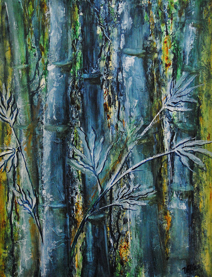 Forest Painting - Bamboo Forest by Vallee Johnson
