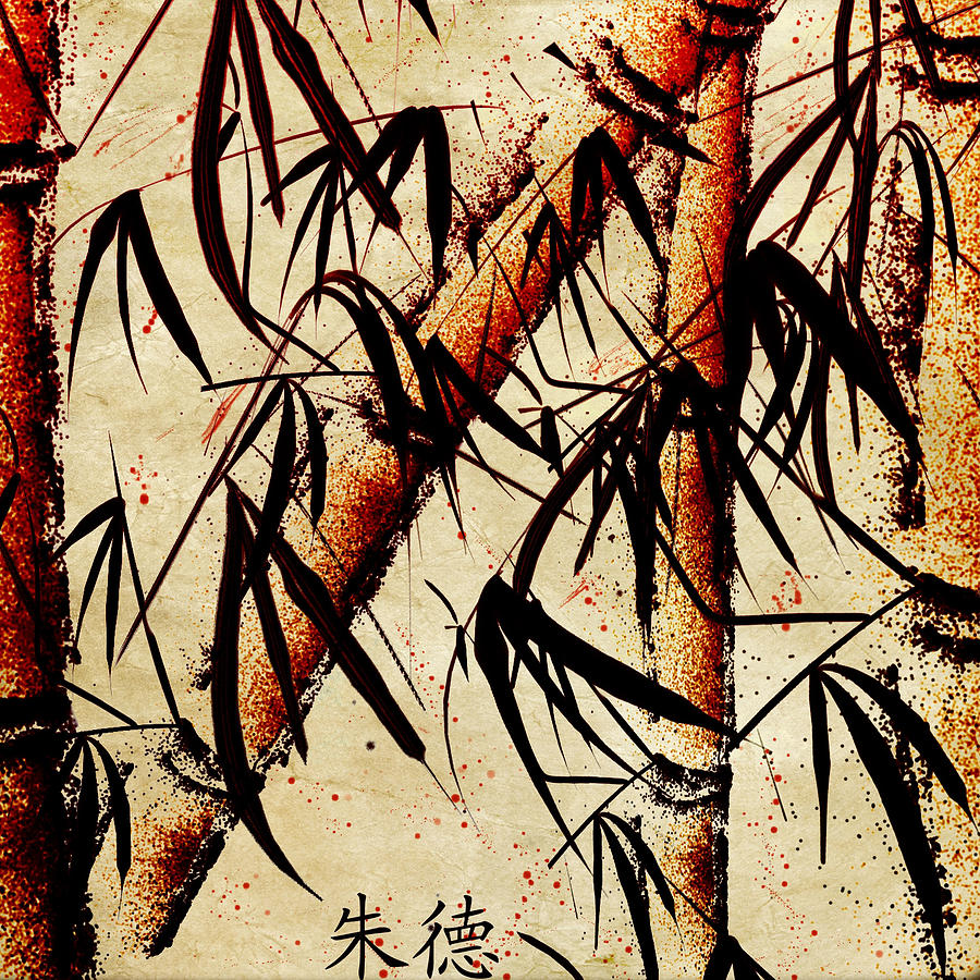 Sumi-e Painting - Bamboo Grove by Jude Reid
