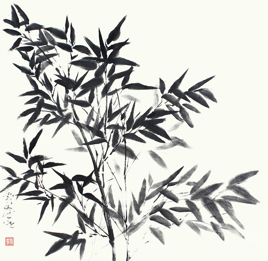 Bamboo Painting - Bamboo In Its Full Grace by Nadja Van Ghelue