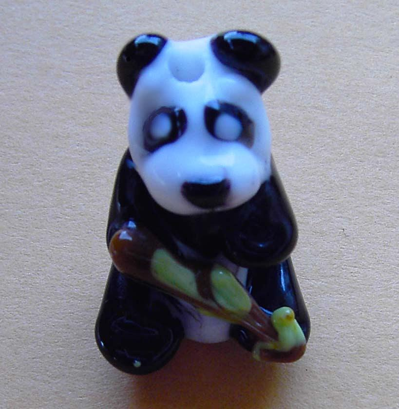 Panda Sculpture - Bamboo Panda by Cecilia Alvarez