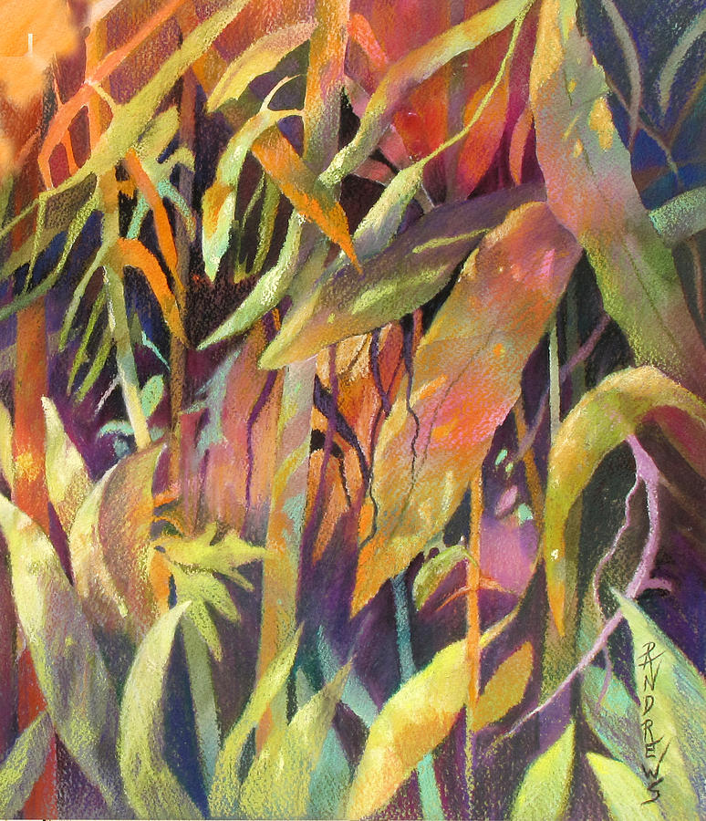 Abstract Painting - Bamboo Patterns by Rae Andrews