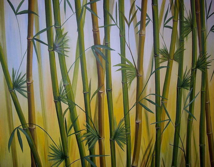 Bamboo Painting by Rafael Marin