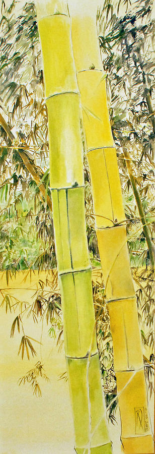 Landscape Painting - Bamboo by Rainer Jacob