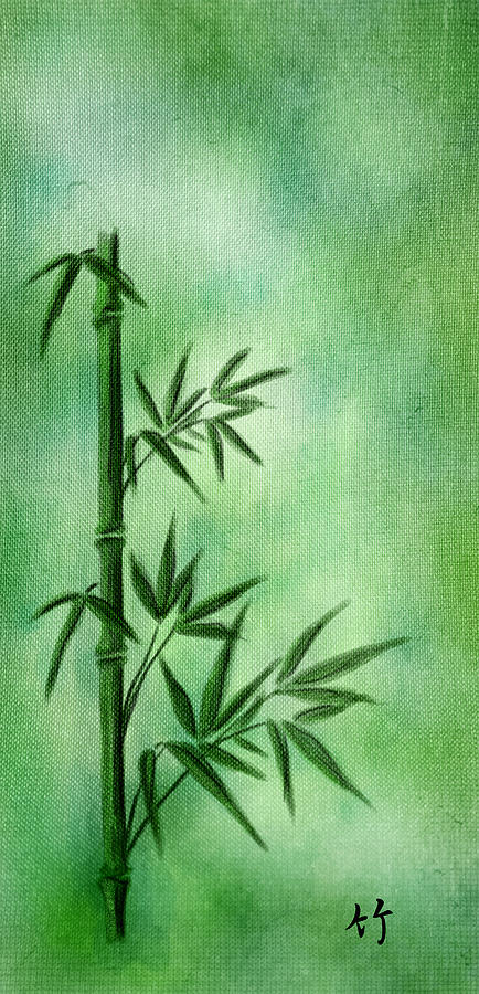 Abstract Digital Art - Bamboo by Svetlana Sewell