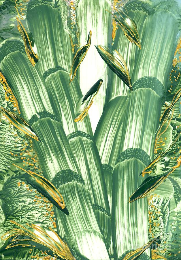 Bamboo Treasure Painting by Heather Hennick