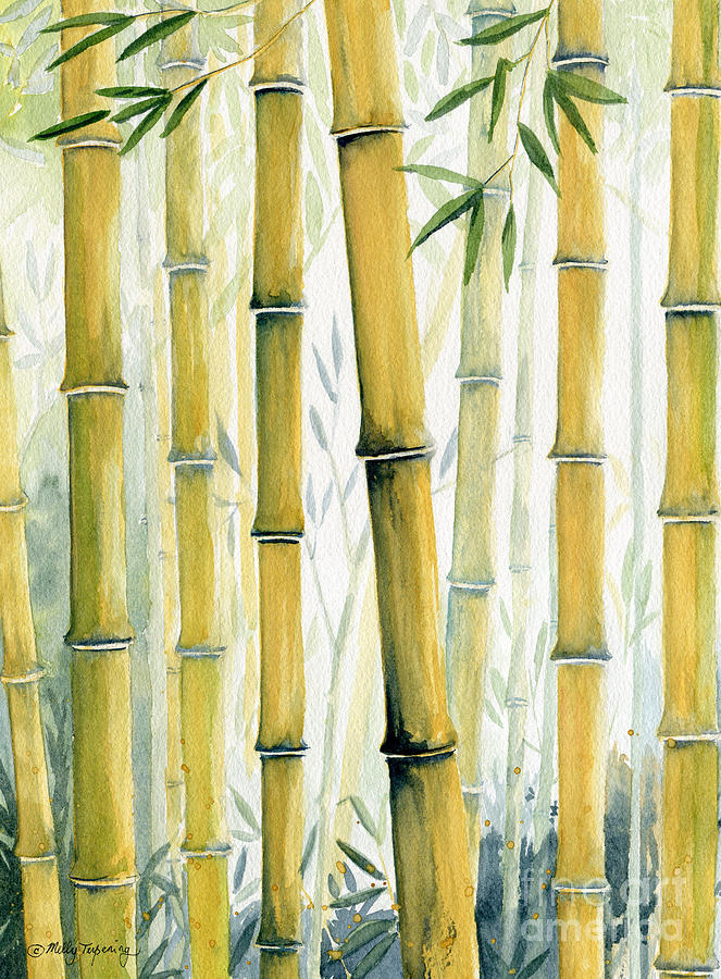 Bamboo Trees Painting By Melly Terpening
