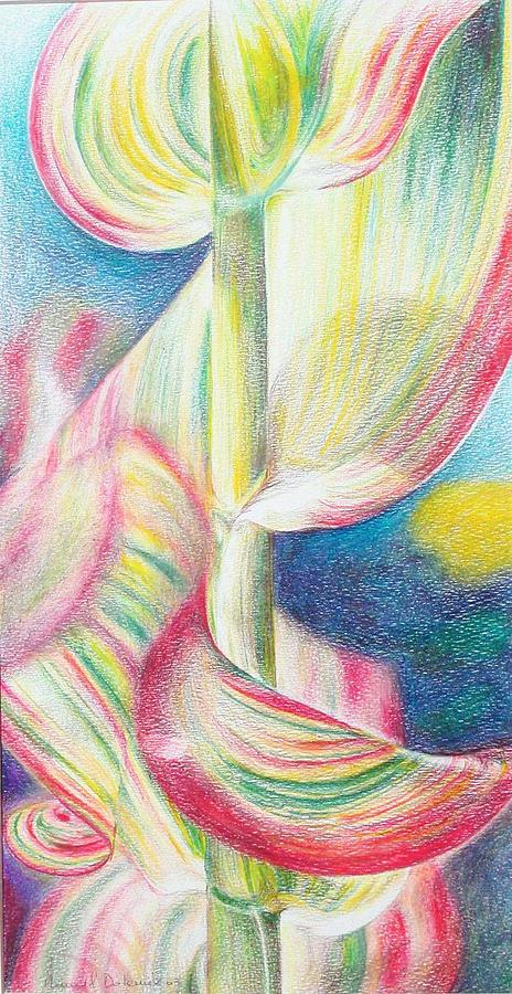 Flower Painting - Bambou by Muriel Dolemieux