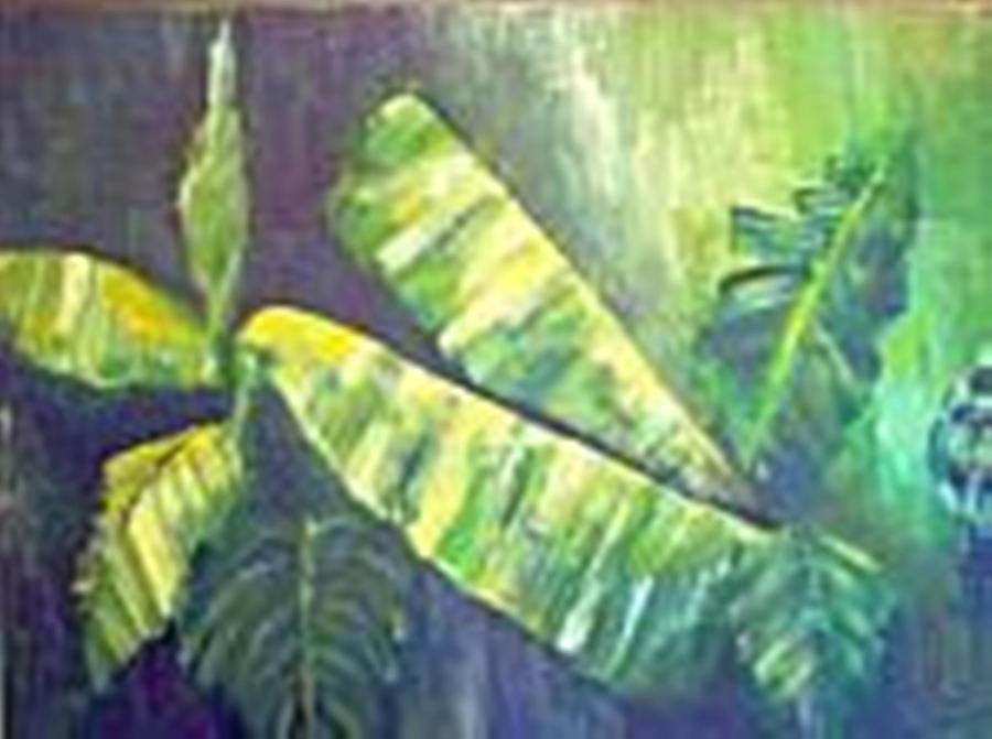 Banana Leaf Painting - Banan Leaf by Carol P Kingsley