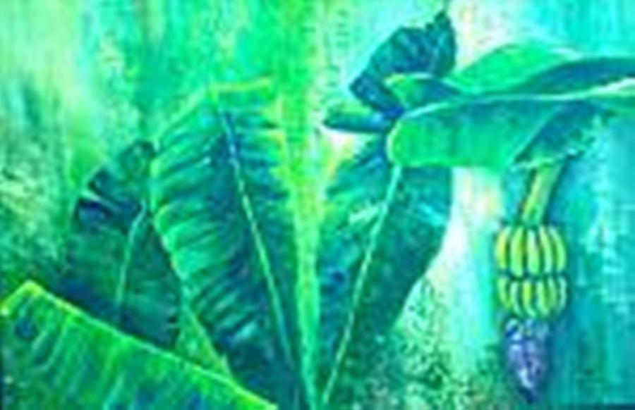 Banan Leaves 5 Painting by Carol P Kingsley