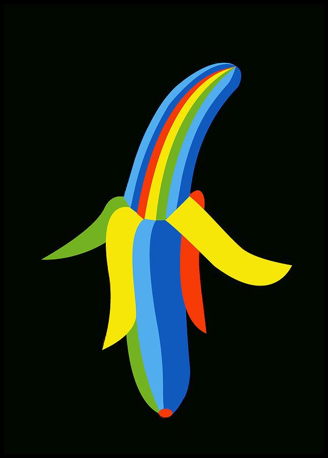 Banana Digital Art - Banana by Asbjorn Lonvig