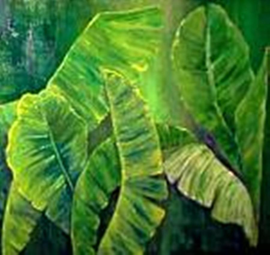 Banana Leaves Painting by Carol P Kingsley