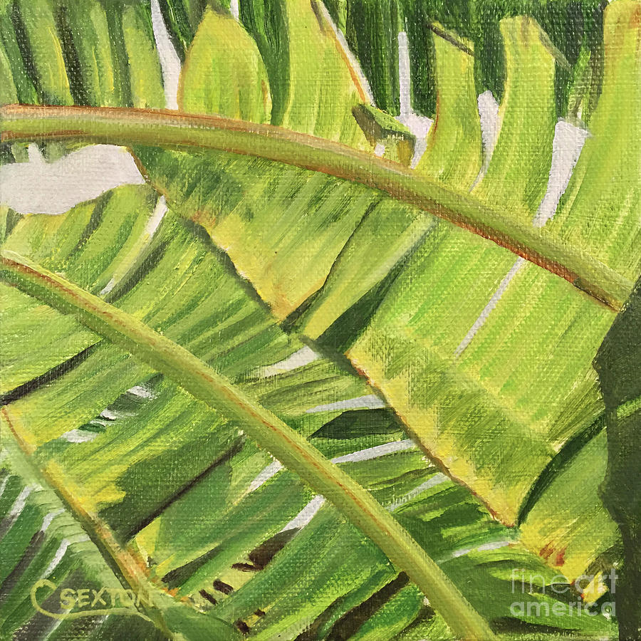 Banana Leaves Painting by Carol Sexton