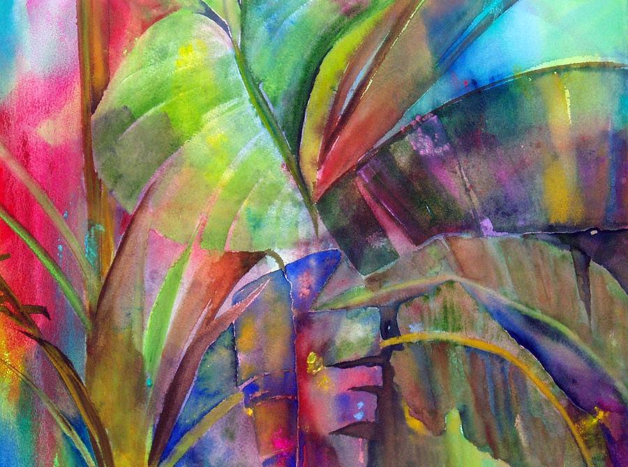 Banana Leaves IIi Painting by Maritza Bermudez
