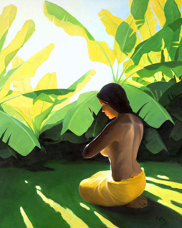 Banana Patch Painting by Pepe  Patrick Conley