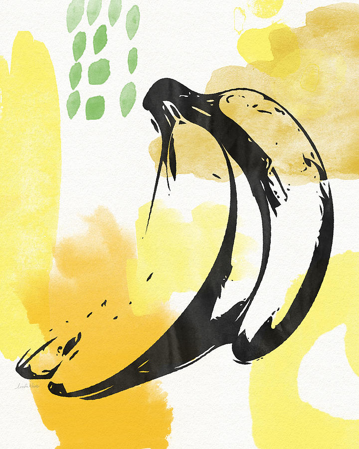 Bananas Painting - Bananas- Art by Linda Woods by Linda Woods