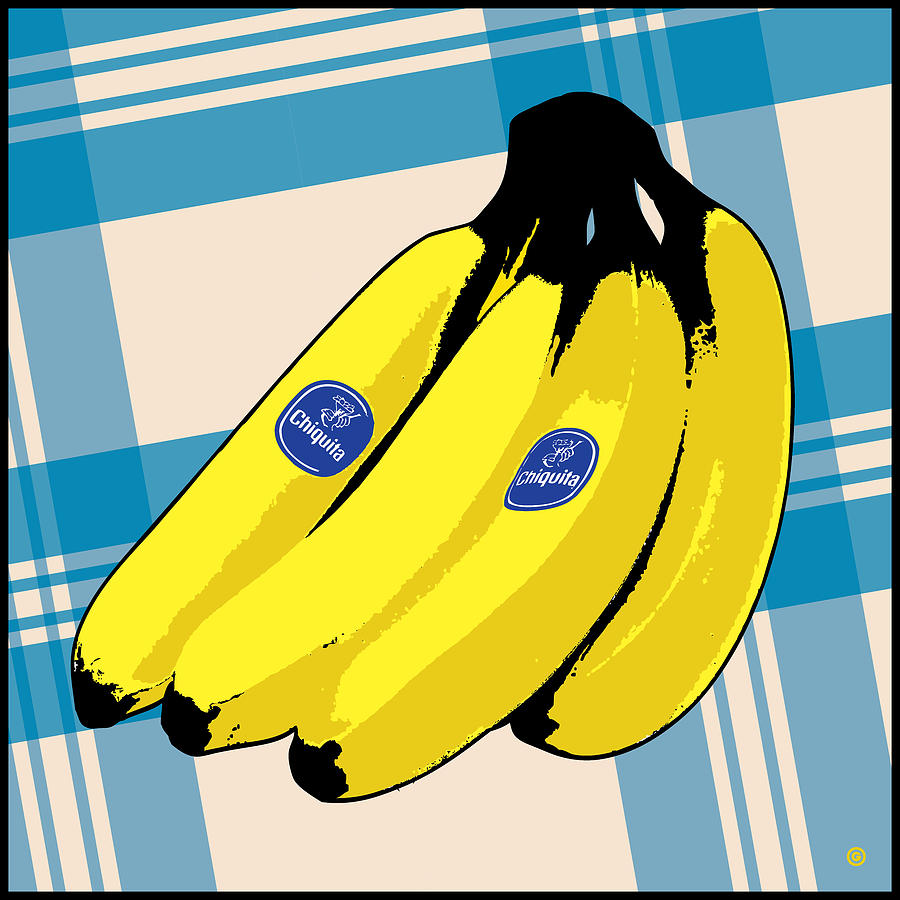 Graphic Design Painting - Bananas by Gary Grayson