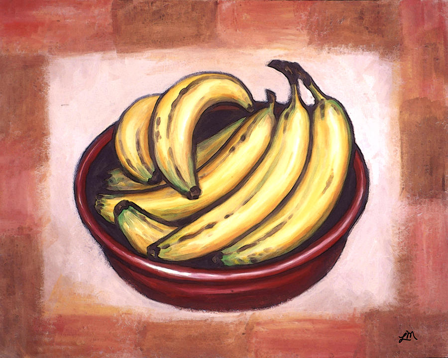 Bananas Painting - Bananas by Linda Mears