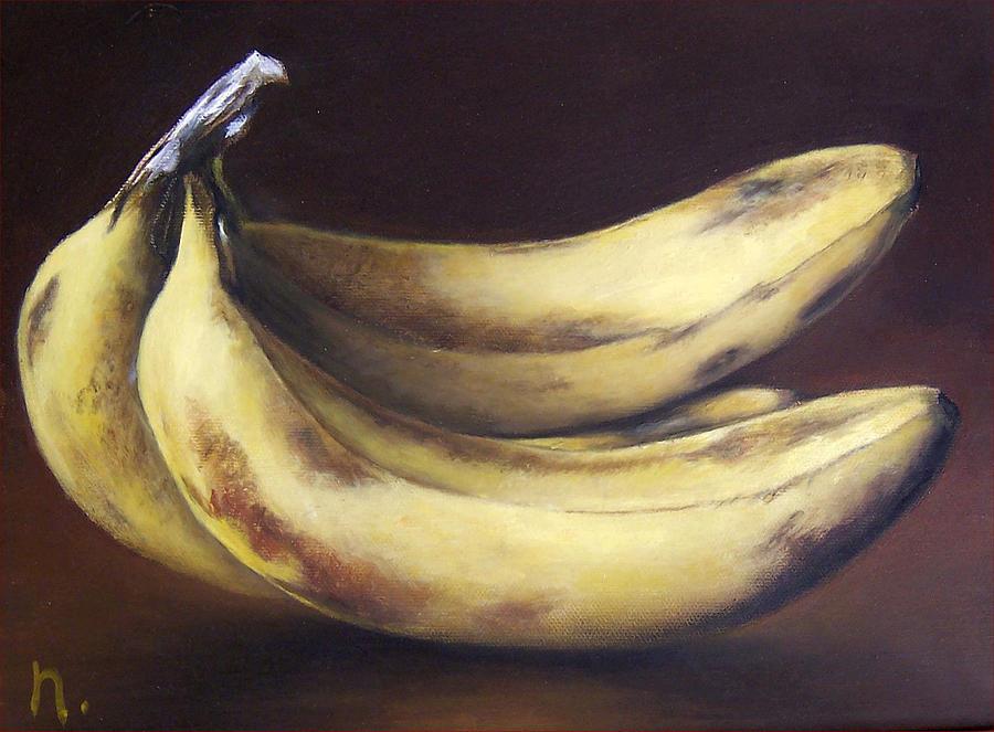 Still Life Painting - Bananas by Natasha Zivojinovic