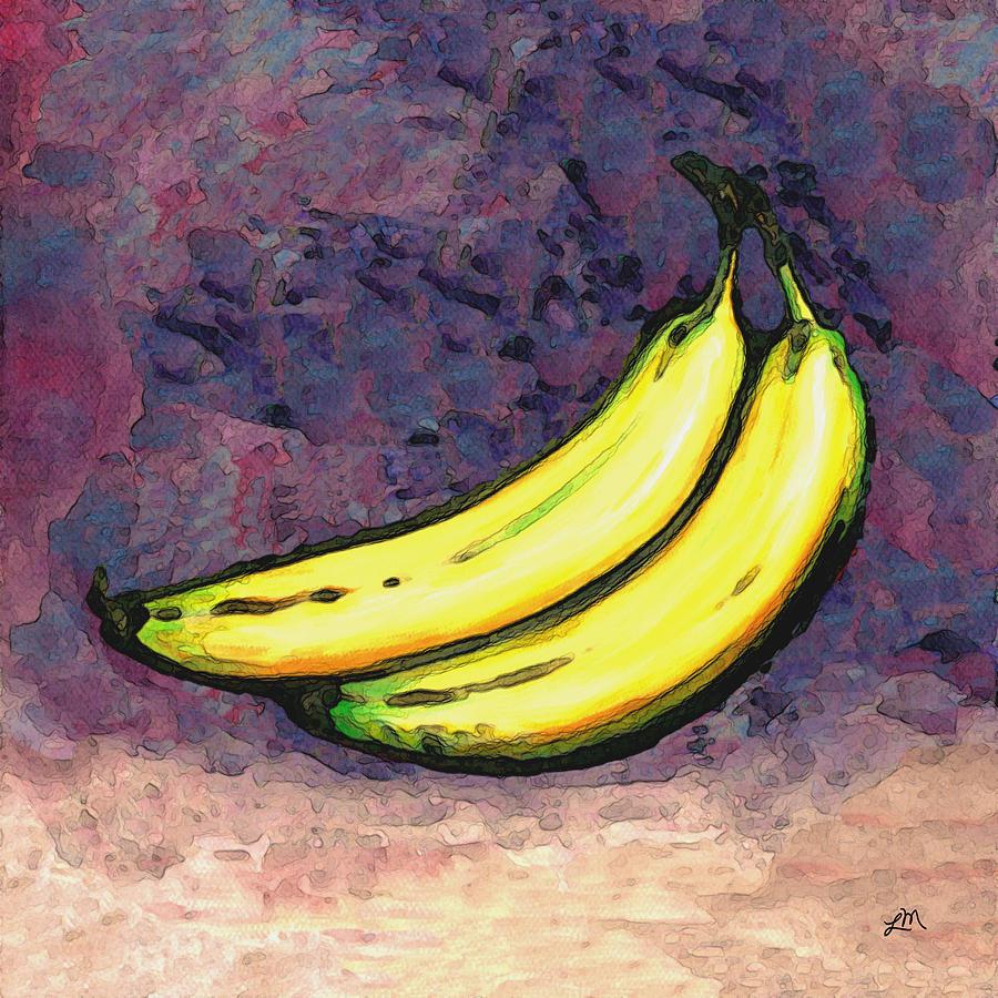 Bananas Painting - Bananas Three by Linda Mears