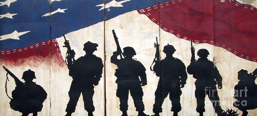 Old Glory Photograph - Band of Brothers - Operation Iraqi Freedom by Unknown
