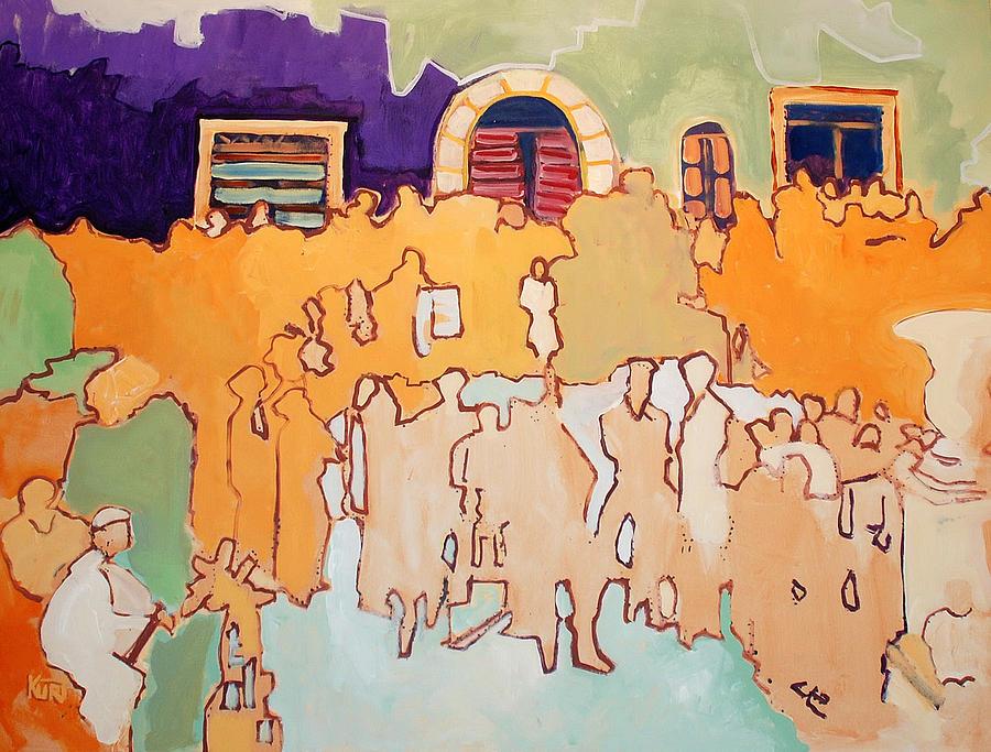 Band Painting - Banda di Villaggio by Kurt Hausmann