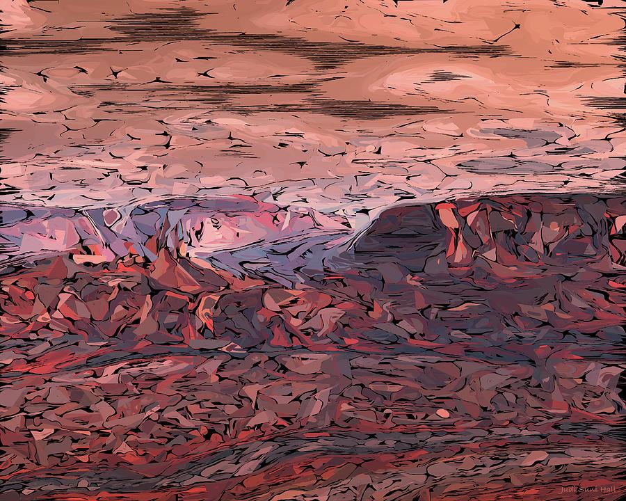 Banded Canyon Abstract by Judi Suni Hall