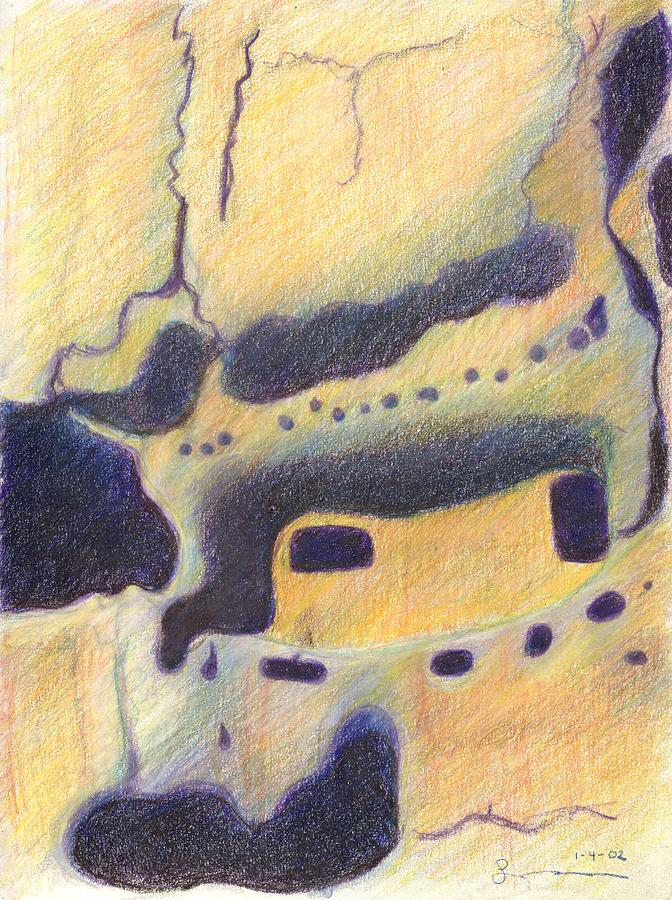 Bandelier National Monument Drawing - Bandelier I by Harriet Emerson