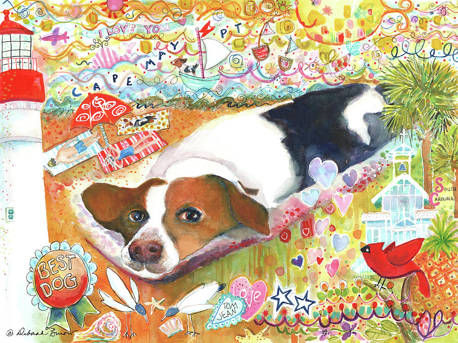 Beagle Painting - Bandit by Deborah Burow