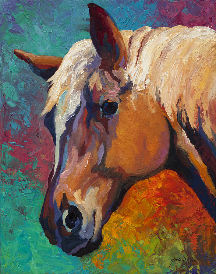 Horses Painting - Bandit by Marion Rose