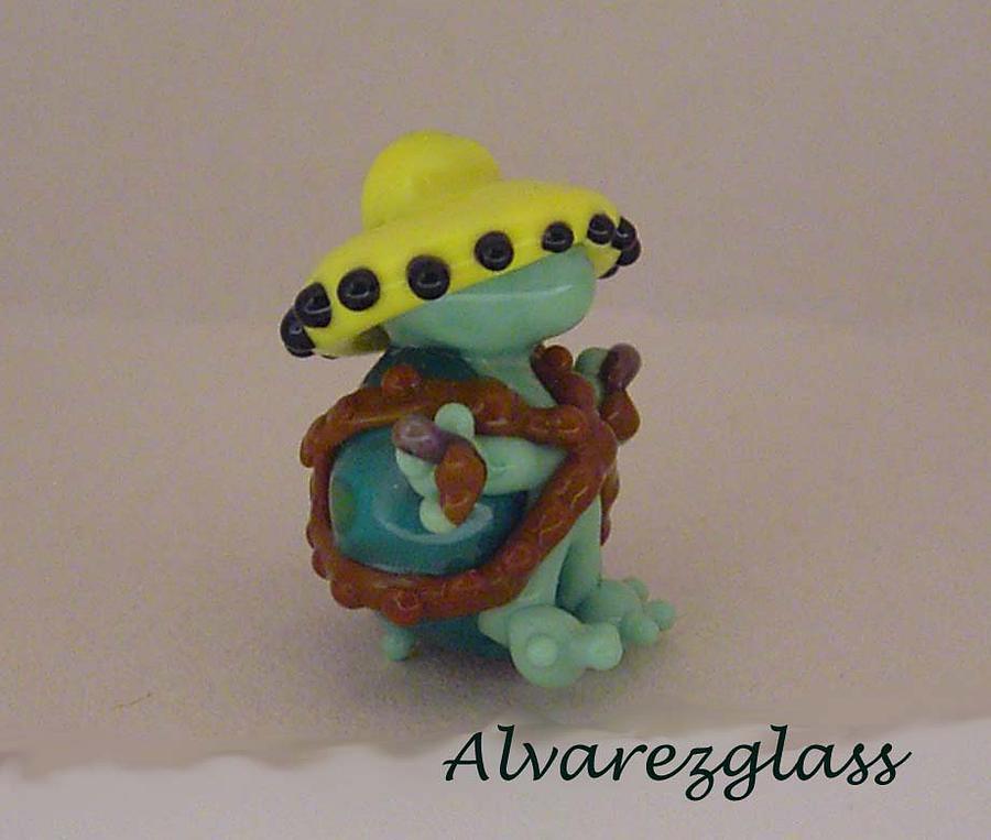 Turtle Sculpture - Bandito by Cecilia Alvarez